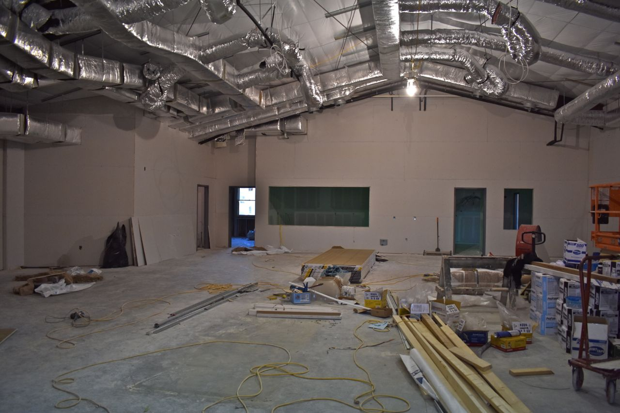 Dining Hall with Sheetrock